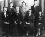 Bill Sherwell with family members on his wedding day, 1928