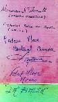 Signatures of the La Balsa raft crew, November 1970